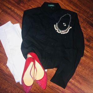 🆕 Lauren/ Ralph Lauren button down linen shirt
